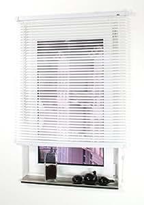 1PLUS Fenster PVC Jalousie mit 160 cm Länge in versch. Breiten & Farben, inkl Befestigungsmaterial (weiß, 120x160 cm)