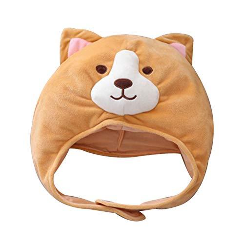 Fenical Plüsch Mütze Niedliche Corgi Party Tier Kostüm Kopfbedeckungen Cosplay Foto Requisiten