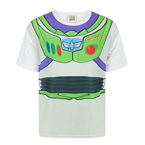 (Toy Story Disney Kinder/Jungen Buzz Lightyear Kostüm T-Shirt (11-12 Jahre (152)) (Weiß))