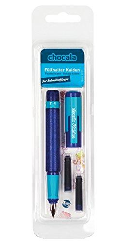 Preisvergleich Produktbild Umixx 732505 - Chocala - Lernfüllhalter, durchgefärbt Kaidun, blau
