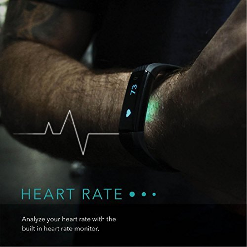 4173WW1KBFL. SS500  - SmartBand: Heart Rate Monitor Fitness Activity Tracker Watch Step Walking Sleep Counter Wireless Wristband Pedometer Exercise Tracking Sweatproof Sports Bracelet ALL iPhone ALL Android Smart Phones