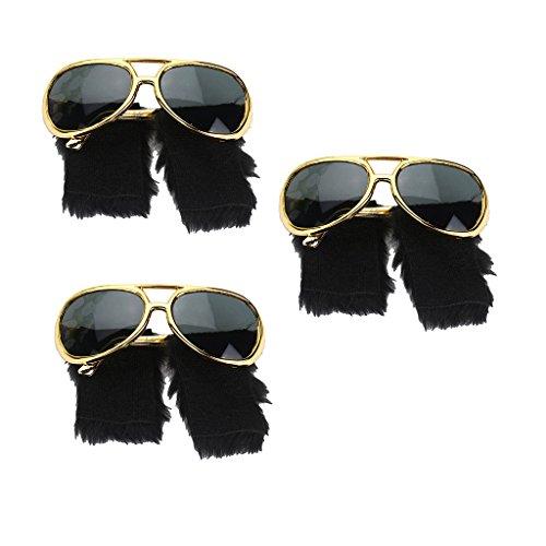 B Blesiya 3X Gafas Sol Barba Mostachos Forma Recreación