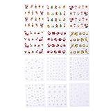 Frcolor Nail sticker Nagel DIY Aufkleber Nagel Schneeflocke Weihnachten Thema 12 Blätter