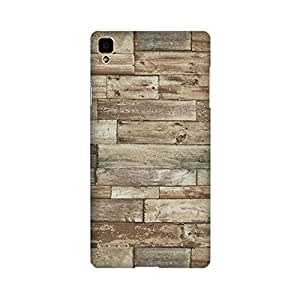 Yashas High Quality Designer Printed Case & Cover for Oppo F1 (Wooden Print)