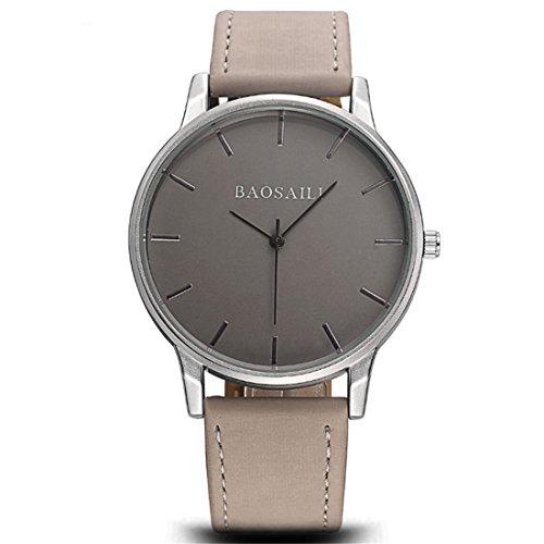 Souarts Damen Armbanduhr Einfach stil Analoge Quarz Uhr mit Batterie Grau
