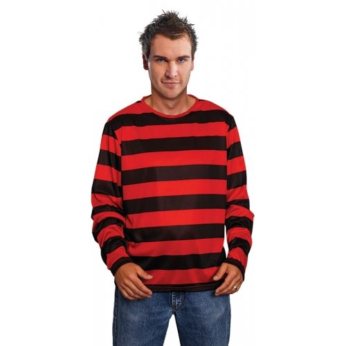 Dennis Kostüm Menace - Dennis Menace Men's T-Shirt rayé-déguisement Taille unique