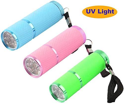 Q&A 3pcs Mini lámpara linterna LED Secador uñas