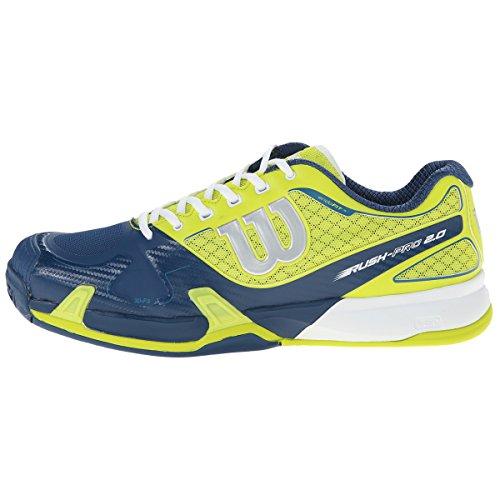 Wilson Unisex-Erwachsene Rush Pro Tennisschuhe Neon-Grün/Blau