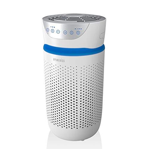 HoMedics TotalClean 5-in-1 Luftreiniger - effiziente Luftreinigung mit HEPA- und Aktivkohle-Filter gegen Pollen, Allergene, Bakterien, Schimmel, Rauch, Gerüche, ideal für Allergiker, Lufterfrischer