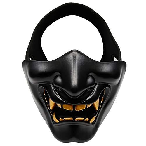 Dpolrs MA-91 Außen-Half Face Lächeln Halloween-Party Masken-CS Spiel Cosplay Schutzmaske