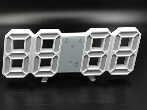 3D LED Digitaluhr USB Elektronische Uhr Desktop Wand Stereo Wanduhr -