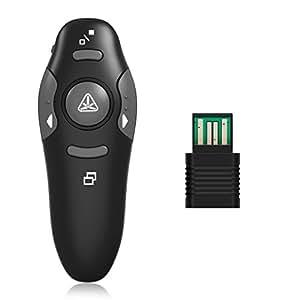 Presentatore LESHP 2.4GHz Wireless USB Presentatore di PowerPoint di Telecomando PPT Pointer Clicker di Presentazione della Penna