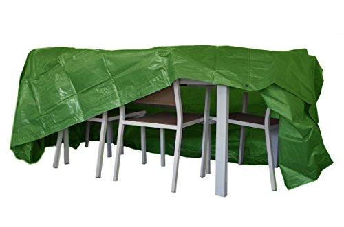 Chalet et Jardin B250*200*90-90-V Housse de Protection pour Table Rectangulaire avec Chaise TITANIUM® 250 x 200 x 90 cm