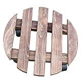 ZHANWEI Gartenregal Blumenregal Antiseptikum Holzkunst Runden Rad Bodenständig Karbonisierte Farbe (Farbe : 30cm in Diameter)