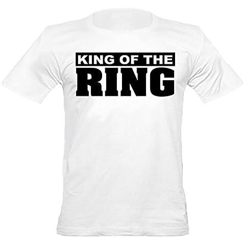 Urban Shaolin Mens MMA, Boxing, King of the Ring mit Rundhalsausschnitt passte T-Shirt, Xtra Xtra Large