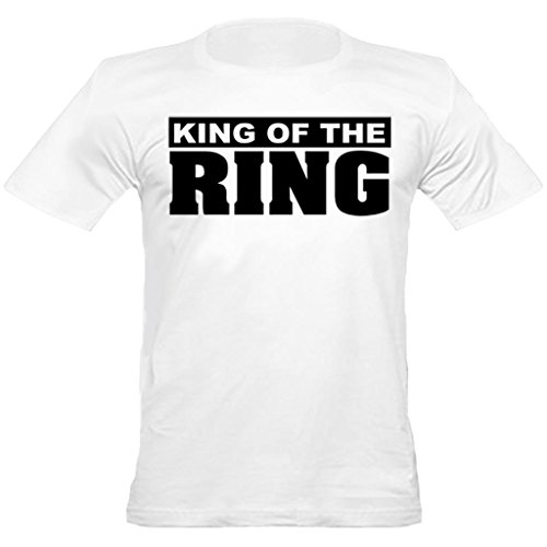 Urban Shaolin Mens MMA, Boxing, King of the Ring mit Rundhalsausschnitt passte T-Shirt, Medium, Weiß