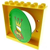 1 x Lego Duplo Kugelbahn Halter gelb Tür Tor Klappe Röhre 31191