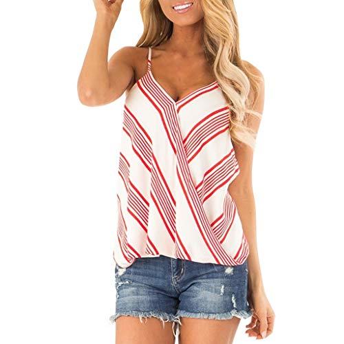 Jkleutrw canotte da donna camisole canotte estate sexy donne maglietta del casuale camicetta tank spalle scoperte bluse con stampa vestiti con vintage strisce