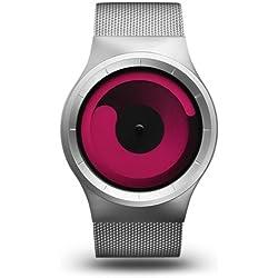 ZIIIRO Mercury Unisex Uhr Stahlmaschenband silver - magenta Watch