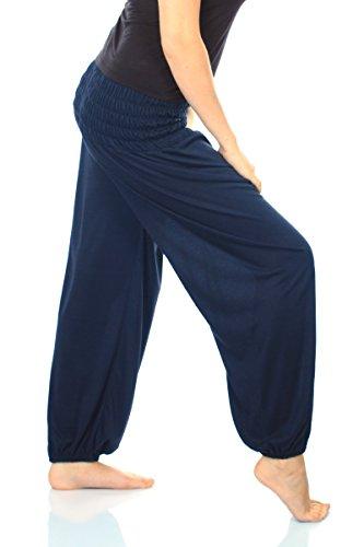 Pantalon de yoga pour femme 19 couleurs pantalon pluderhose pantalon confortable taille s à xXL Bleu - Bleu marine