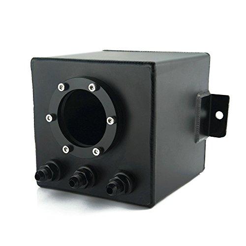 KIMISS 2L Argent AN6 Bill Aluminium R/éservoir Surtension Carburant Tourbillon R/éservoir avec Raccords universels AN6