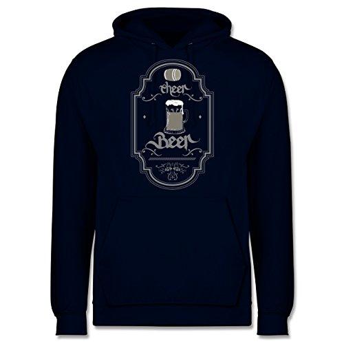 Statement Shirts - Cheer Beer - Männer Premium Kapuzenpullover / Hoodie Dunkelblau