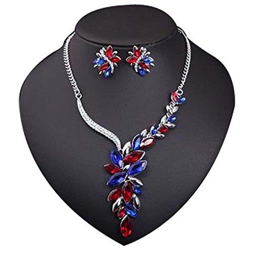 Pour Bijoux Femmes Mode Sets de fleur boucles d'oreilles collier