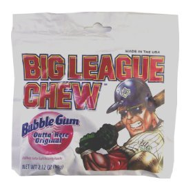 Big League Chew Bubble Gum Original 2.12 OZ (60g) (Big League Gum)