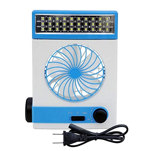 ar Power Mini Fan Multifunktions-AC-Direktlader mit LED-Tischlampe LED-Taschenlampe Büros Schlafzimmer ()