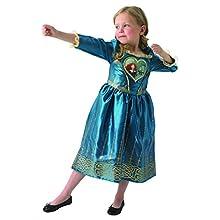 Rubie's Loveheart Merida Girls Fancy Dress Disney Brave Fairytale Kids Childs Costume