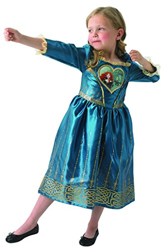heart Dress Princess - Chidlren Kostüm - Medium - 116cm (Merida Disney Kostüm)