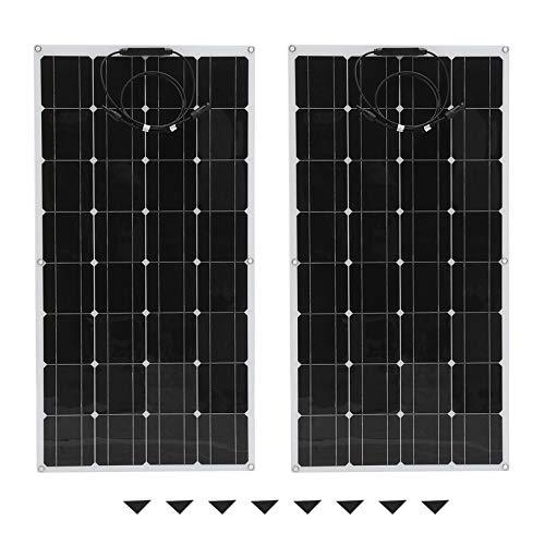2 stücke 100 Watt Monokristalline Flexible Solarpanel Outdoor Solar Ladegerät Solar Power System Für Off Grid RV Boot fghfhfgjdfj Rv-power-systeme