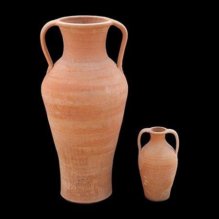 Crétoise fait à la main en terre cuite Amphora Pot avec poignées – \\