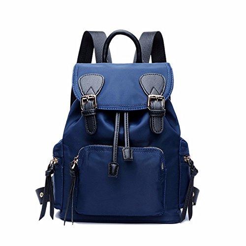 die neue schule leinwand taschen rucksack rucksack fester fallschirm.,deep blue