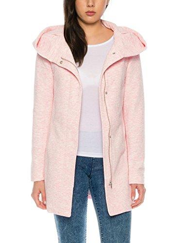 Only Damen-Woll-Mantel onlSedona Link Coat 15144772 Kurz-Mantel Übergang-Jacke, Größe:M, Farbe:Rosa (Warme Kurze Coat Down)