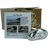 10th Anniversary 100% Tin You Are My Rock Gift Idea - Solid Metal Heavy Rock Gift for 10 Year Anniversary
