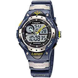 Dsstyles Pasnew Children Water Resistant Digital Quartz Sport Watch Teens Wrist Watch - Blue