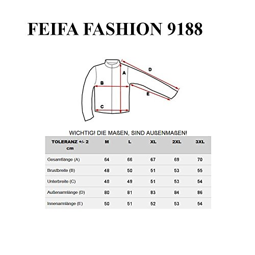 BOLF Herren Kunstlederjacke Sweatjacke Bikerjacke Men Jacket FEIFA FASHION 9188 Schwarz
