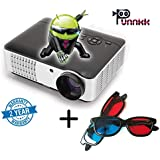 Punnkk P9 Android & WiFi Full HD LED LCD Home Theater Projector, 3500 Lumen 1080P With 3D Glasses/Spectacles