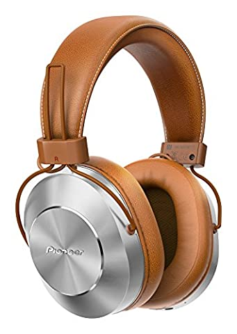 Pioneer SE-MS7BT-T Wireless Over Ear Headphones with Integrated Microphone and Controls - Tan