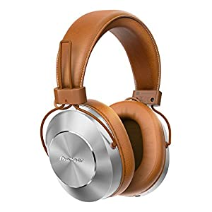 Pioneer SE-MS7BT(T) Bluetooth Over-Ear Headset (Microphone, High-Res Audio, NFC, 12 Hour Playback, High Comfort, for Smartphone, Tablet, Hifi System, Aluminium Design) Silver Brown