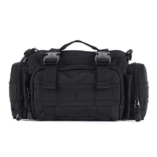 Sincere® Forfait / ventilateurs Sacs à dos / Armée Portable / Ultralight de camping super-homme sac de patrouille / sac à bandoulière Équipement pour l'extérieur noir 20L