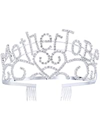 TOYMYTOY Metal Mother To Be Silver Tiara Crown with Sparkling Rhinestones for Baby Shower