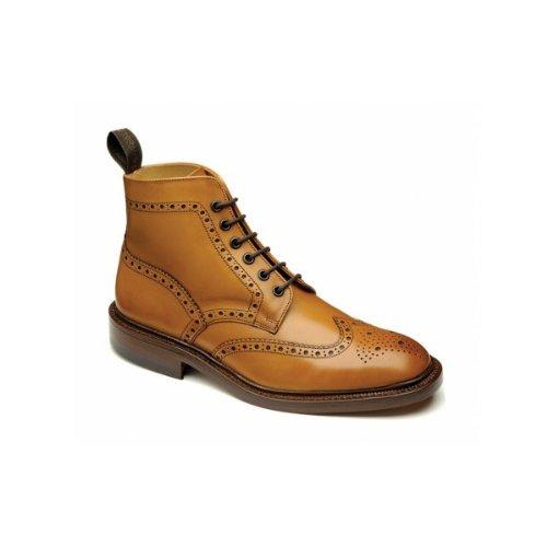 loake-burford-da-uomo-in-pelle-brogue-stivali-alla-caviglia-marrone-tan-47-eu-g