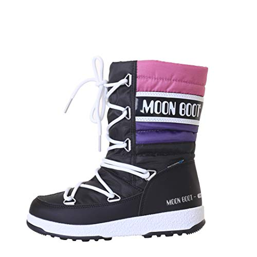 Moon Boot W.E. Quilted WP Kids Black-Purple-Orchid Schuhgröße 33 2017 Stiefel