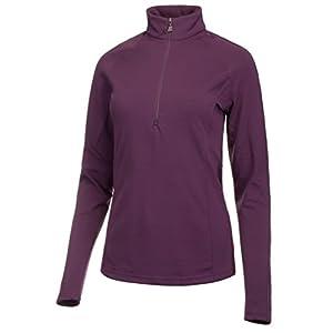 Medico Damen Ski Shirt Langarm Stehkragen mit Reißverschluss 90% Polyester 10% Elastan