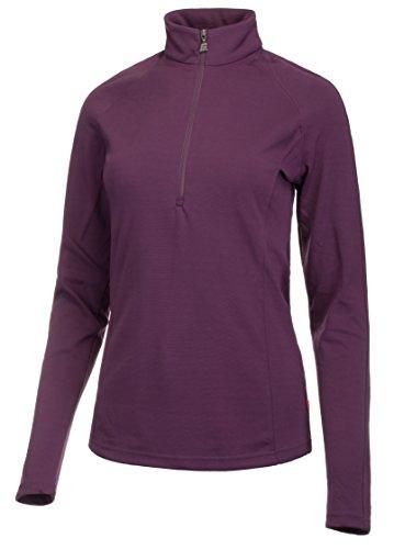 Medico Damen Ski Shirt langarm Stehkragen mit Reißverschluss 90% Polyester 10% Elastan - Farbe: Lila Größe: 40