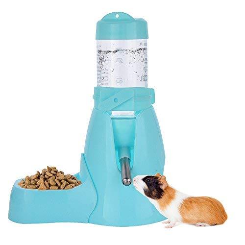 Botella de Agua para Animales Dispensador Waterer Automático con recipiente tapa para Mascotas Gato Hamsters Ratas Cobayas Hurones Rabbits Conejos Animales pequeños