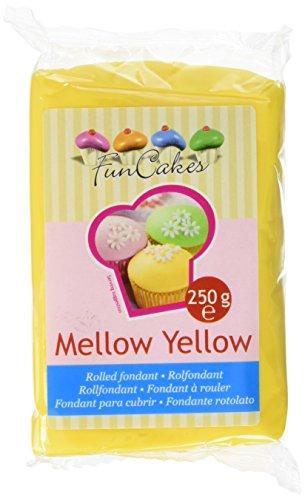 FunCakes Fondant, gelb, 1er Pack (1 x 250 g) (Gelb-decken)