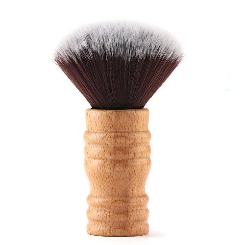 Segbeauty Barbero Cepillo de Cuello Mango de Madera, Plumero Suave del Cuello del Corte de Pelo de la Cerda, Salón Corte de Pelo Herramienta de Limpieza para Estilista Peluquería
